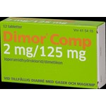 Dimor Comp tablett 2 mg/125 mg 12 st