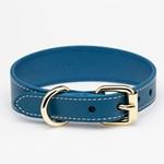 Collar of Sweden Blue Leather Collar Medium Thin hundhalsband