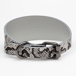 Collar of Sweden Snake Leather Collar Medium Wide hundhalsband