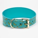 Collar of Sweden Bananas Leather Collar Large Wide hundhalsband