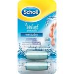 Scholl Velvet Smooth Wet & Dry Refill 2 st