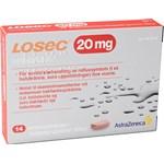 Losec enterotablett 20 mg 14 st
