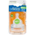 Dr Brown's Options Dinapp Bred Hals Y-snitt, 9 mån+ 2-pack