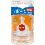 Dr Brown's Options Dinapp Bred Hals Storlek 1, 0 mån+ 2-pack