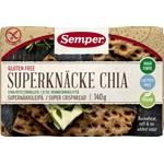 Semper Glutenfritt Superknäcke Chia 140 g