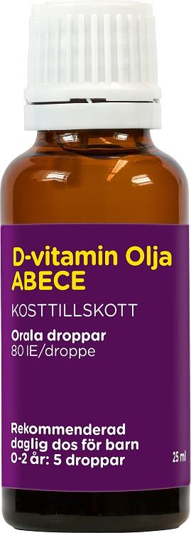 ABECE D-vitamin Olja 25 ml
