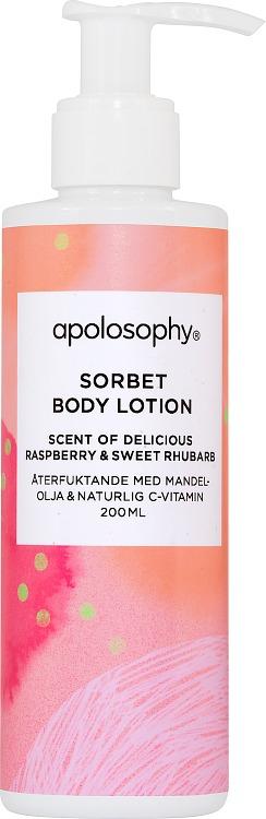 Apolosophy Delicious Raspberry & Sweet Rhubarb Sorbet Body Lotion 200 ml