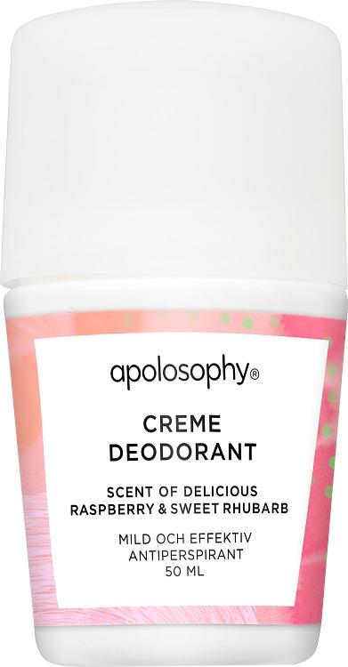 Apolosophy Delicious Raspberry & Sweet Rhubarb Creme Deodorant 50 ml