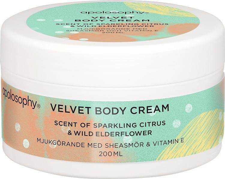 Apolosophy Sparkling Citrus & Wild Elderflower Velvet Body Cream 200 ml