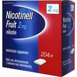 Nicotinell Fruit medicinskt tuggummi 2 mg 204 st
