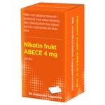 Nikotin frukt ABECE Medicinskt tuggummi 4 mg