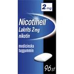 Nicotinell Lakrits medicinskt tuggummi 2 mg 96 st