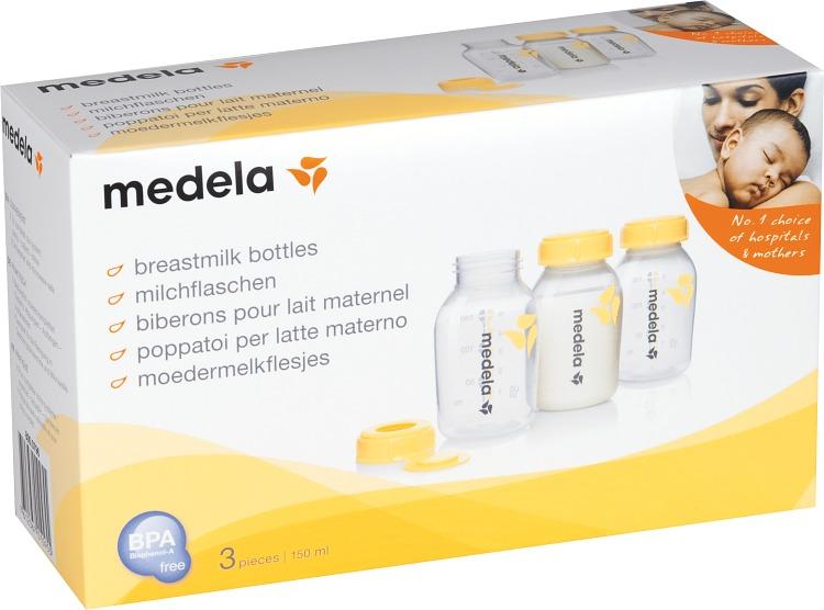 Medela Bröstmjölksflaska 150 ml 3-pack - Apotek Hjärtat 3ce050dec6403