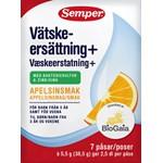 Semper Vätskeersättning+ Apelsinsmak 7 dospåsar
