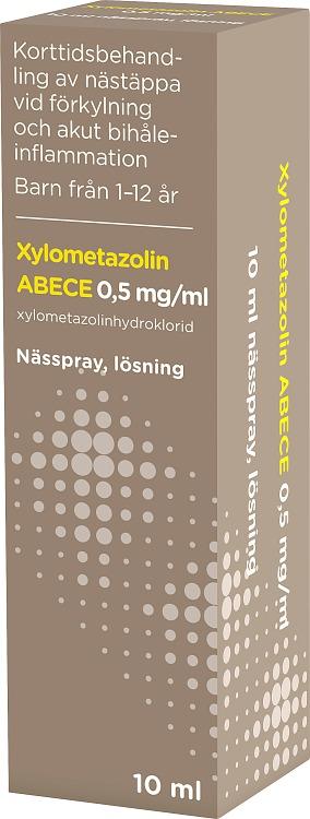 ABECE Nässpray, lösning Xylometazolin 0,5mg/ml 10ml