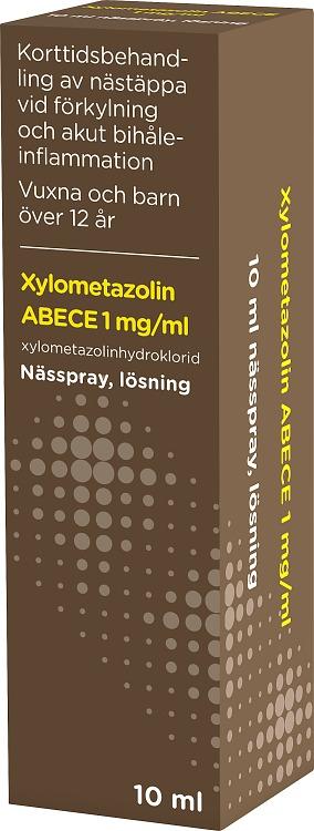 ABECE Nässpray, lösning Xylometazolin 1mg/ml 10ml