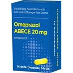 Omeprazol ABECE Enterokapsel hård 20 mg 14 st burk