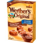 Werthers Original Choklad Sockerfri Tablettask 42 g