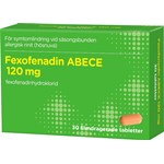 Fexofenadin ABECE Filmdragerad tablett 120mg Blister, 30tabletter