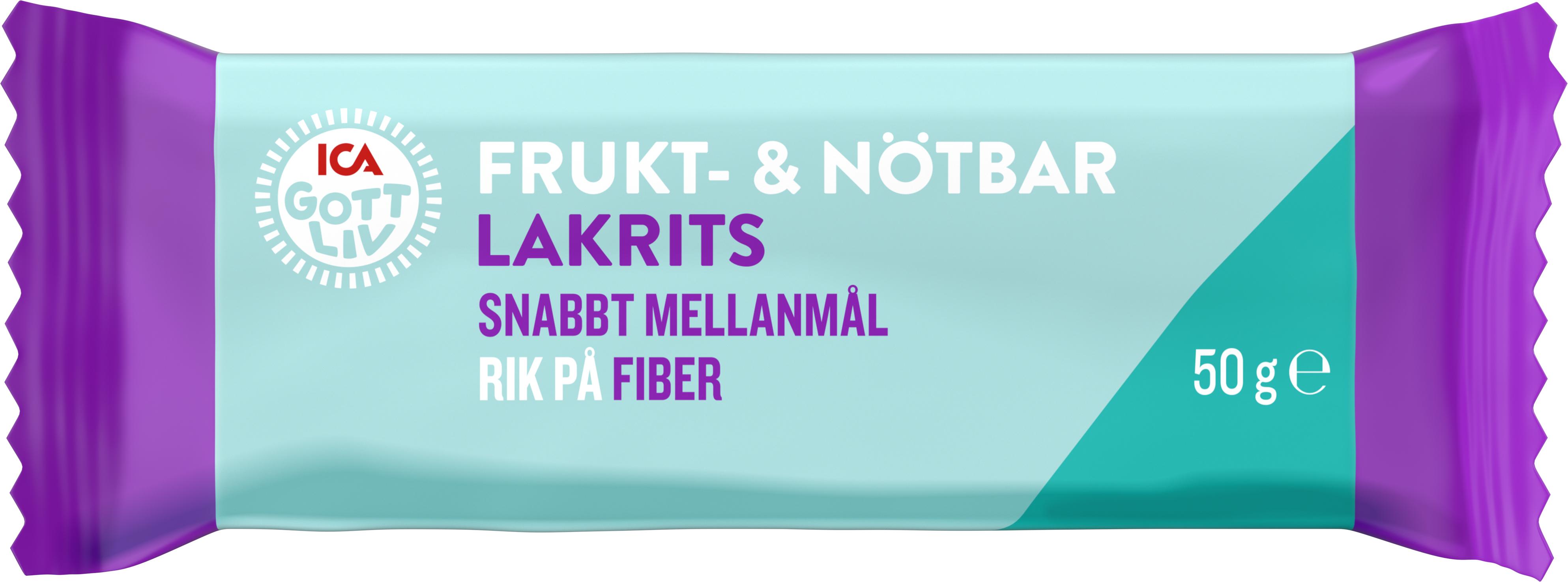 ICA Gott Liv Frukt   Nötbar Lakrits 50 g - Apotek Hjärtat 6662e05d4c355