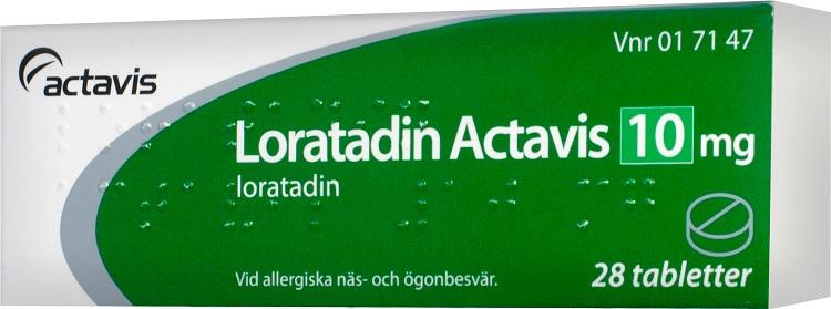 loratadin actavis apoteket