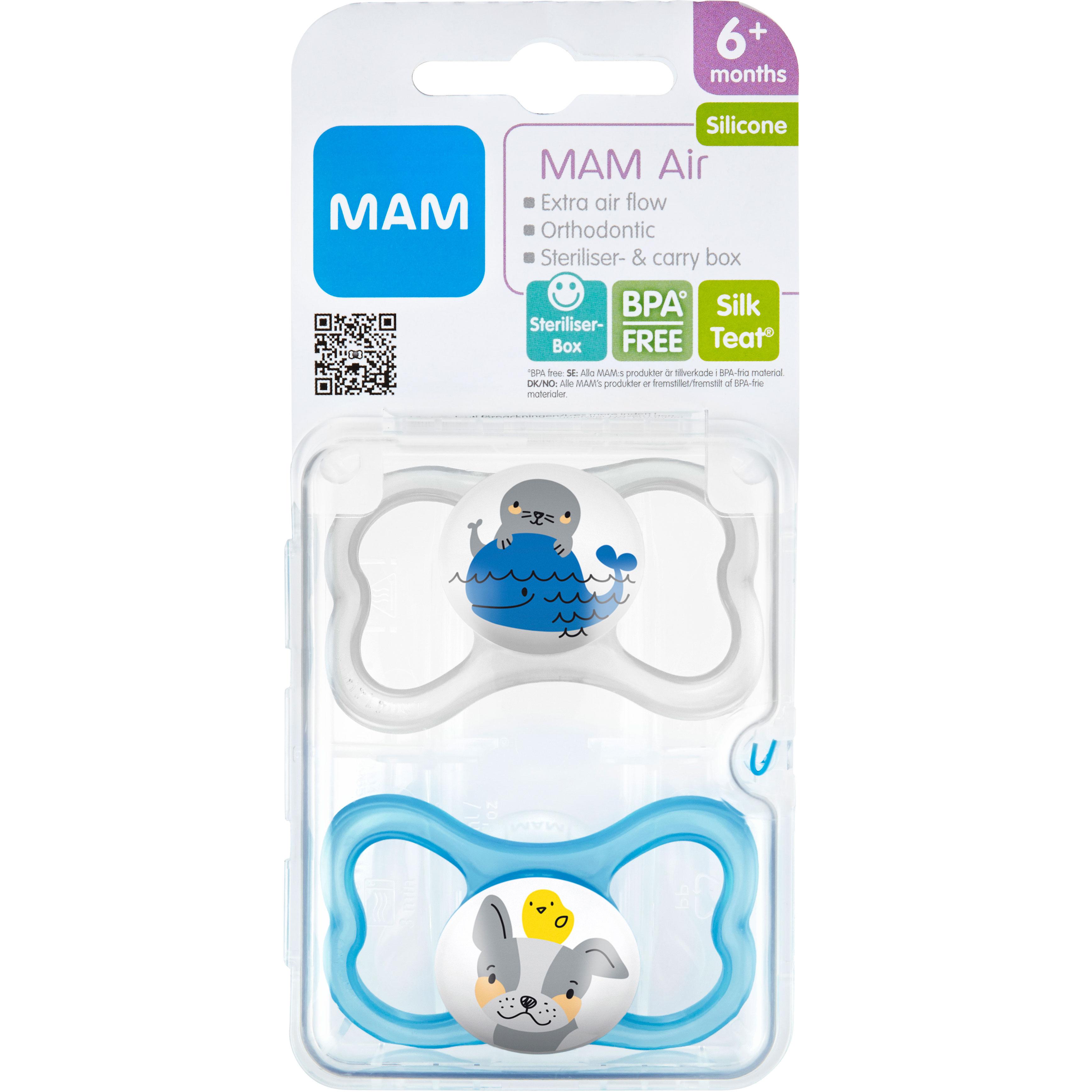 MAM Air Silk 6 mån+ 2-pack - Apotek Hjärtat 8ef27f3fb7f0b
