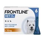 Frontline Vet. Spot-on lösning hund max 10 kg 100 mg/ml 6 x 0,67 ml