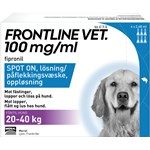 Frontline Vet. Spot-on lösning hund 20-40 kg 100 mg/ml 6 x 2,68 ml