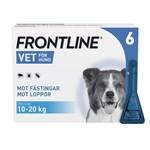 Frontline Vet. Spot-on lösning hund 10-20 kg 100 mg/ml 6 x 1,34 ml