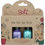 Sati Nagellack Giftfritt 2-pack Purple & Green
