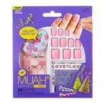 Kiss Muah Nail Art Party Kit Förlimmade lösnaglar & stickers