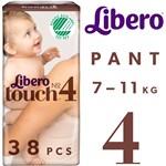 Libero Touch 4 Byxblöja (7-11 kg) 38 st