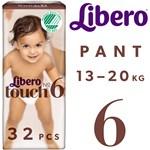 Libero Touch 6 Byxblöja (13-20 kg) 32 st