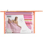 Smart Beachtowel Pink Stripe