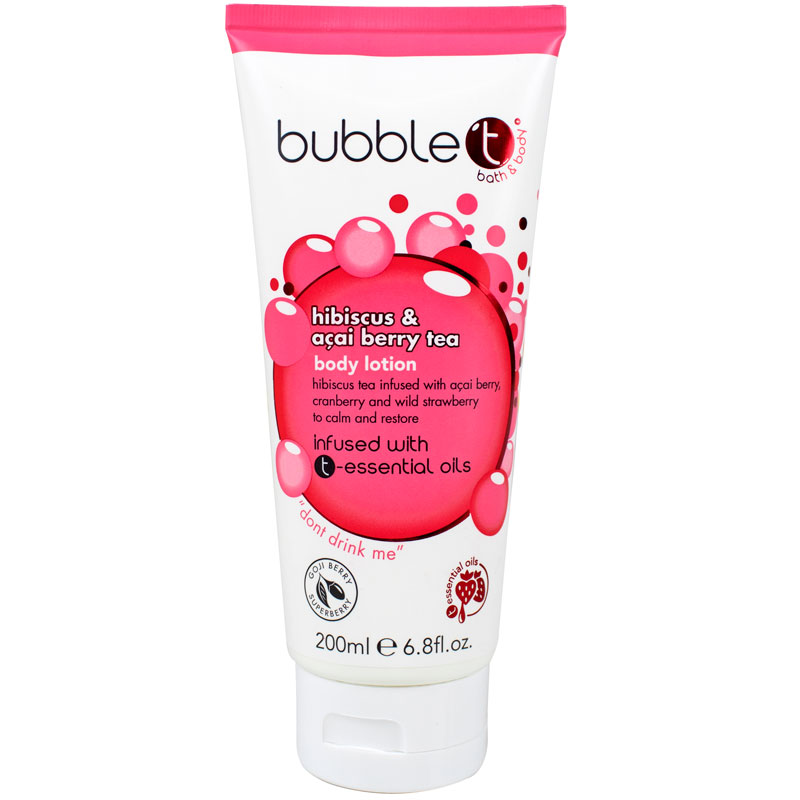 BubbleT Hibiscus & Acai Berry Tea Body Lotion 200 ml