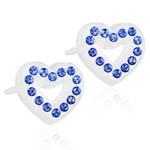 Blomdahl Örhängen Brilliance Heart Hollow Sapphire 10 mm