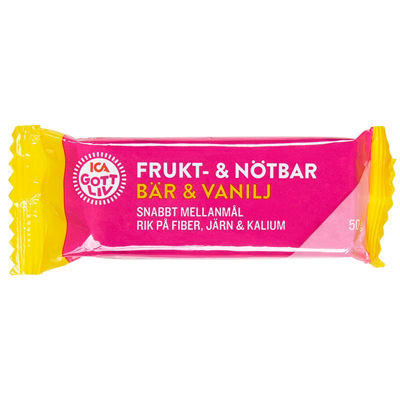 ICA Gott Liv Frukt   Nötbar Bär   Vanilj 50 g - Apotek Hjärtat ca707264ebcef