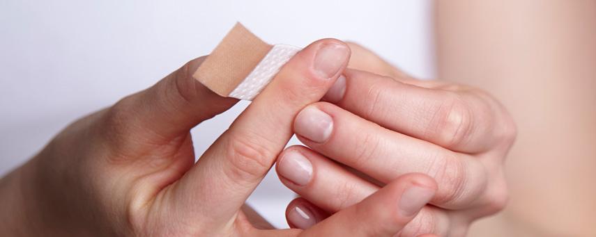 infekterat sår finger